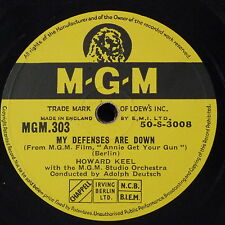78rpm HOWARD KEEL my defences are down / you can`t get a man with a gun