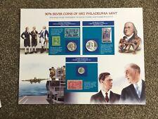 More details for 90% silver coins of 1957 philadelphia mint set, commemorative. unused, stamps
