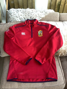 Canterbury British Lions 2021 1/4 Zip Fleece Size Large Worn Once Mint Condition