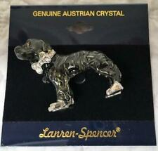 Hovawart Dog Pin Brooch Austrian Crystals by Lauren Spencer New