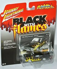 Black with Flames - 1970 PLYMOUTH GTX - 1:64 Johnny Lightning