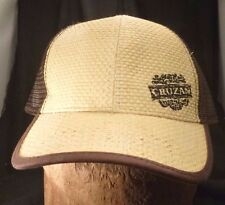 Vintage CRUZAN RUM WICKER MESH Trucker Hat Straw Style ADJUSTABLE VIRGIN ISLANDS