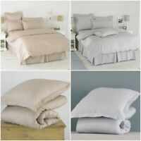 LUXURY HOTEL QUALITY DUVET COVER & PILLOWCASES BEDDING QUILT DOUBLE KING SIZES