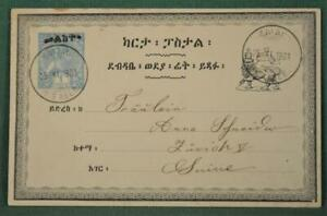 ETHIOPIA STAMP COVER STATIONARY CARD 1903 TO SWITZERLAND   (M155)