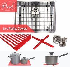 """Ariel 23"""" Undermount Stainless Steel Zero Radius Single Bowl Kitchen sink Combo"""