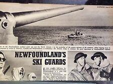 a1w ephemera ww2 1942 article newfoundland ski guard hunt keller st john
