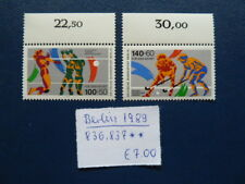 Berlin 1989, Sporthilfe: Volleyball, Hockey, Michel 836, 837, **, Oberrand