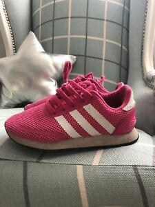Girls Pink Adidas Trainers Size 1