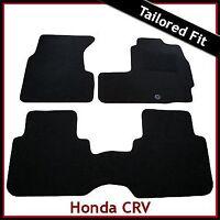 HONDA CR-V Automatic Mk1 1995-2002 Tailored Carpet Floor Mats BLACK