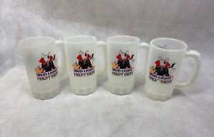 Vintage Bud Light Fright Night Cups Spuds MacKenzie Glow Dark Plastic Beer Mug