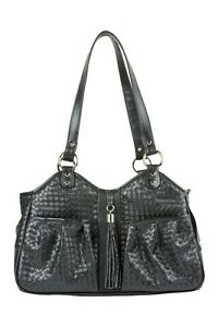 PETOTE METRO Black Woven with Tassel Tote Dog Carrier Bag 3 Sizes