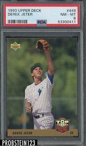 1993 Upper Deck #499 Derek Jeter New York Yankees RC Rookie HOF PSA 8 NM-MT