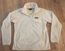 Patagonia Women's Re-Tool Snap-T Fleece Pullover Sweater Jacket White Medium