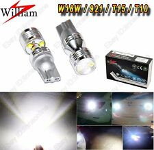 2x 30W LED Projector 921 W16W Rear Fog Lamp Reverse Lights For Lexus CT 2010-Pre