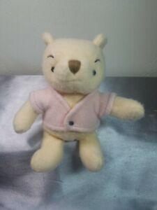 Vtg Classic Pooh Disney Winnie the Pooh Small Plush Stuffed Animal Pink Shirt