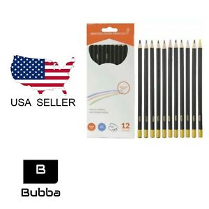 12 Ct Water color Pencil Set - 3.0 MM Lead - New - Free Shipping