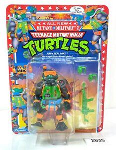 Vintage Teenage Mutant Ninja Turtles NAVY SEAL MIKE Playmates 1992 High Grade