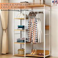 Garment Rack Clothes Hanging Hanger Closet Shoes Storage Shelf Home Organizer