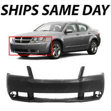 NEW Primered - Front Bumper Cover Replacement for 2008-2010 Dodge Avenger W/ Fog