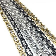 """23.62"""" Mens Necklace Byzantine Box Chain Stainless Steel Multi Color Wholesale"""