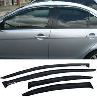 For 08-17 Mitsubishi Lancer Window Visors Smoke Rain Guard Vent Shade w/ Sticker