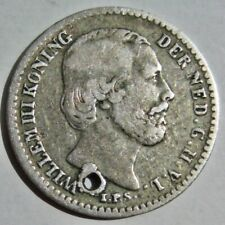 NETHERLANDS 1850 KING WILLIAM III SILVER TEN 10 CENTS COIN (KM# 80)