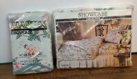 Vintage Martex Percale Sheets Rose Floral Twin Flat Sheet & King Pillowcases