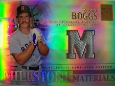 2002 TOPPS TRIBUTE MILESTONE MATERIALS , WADE BOGGS,  JERSEY, BOSTON BOX 16 !