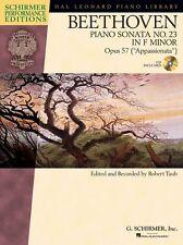 Beethoven Piano Sonata No.23 In F Op.57 Appassionata Schirmer Music Book & CD