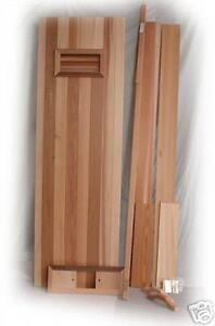 New Cedar Sauna Door