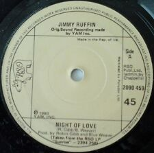"JIMMY RUFFIN-NIGHT OF LOVE 7"" VINYL IRISH SINGLE 1980s POP ROBIN GIBB B GEES EX"
