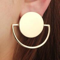 Fashion Geometric Round Circle Dangle Drop Ear Stud Earrings Women Jewelry Gold