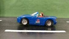 Blue Tyco Mazda Miata 1:64 Scale Convertible Slot Car