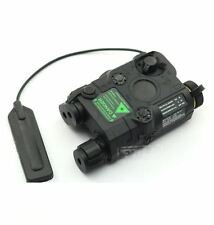 AIRSOFT PEQ-15 LASER LIGHT TORCH IR PRESSURE PAD RIS 20mm RAIL M SERIES BLACK
