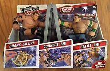 Mattel Power Slammers Randy Orton & John Cena-NEW-Motorized Battling Action
