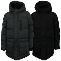 Boys Parka Jacket Brave Soul Kids Long Coat School Padded Quilted Hooded Lined