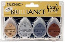 Tsukineko Dew Drop BRILLIANCE PLANETARIUM BD-100-006 Pigment Ink S/4 metallic