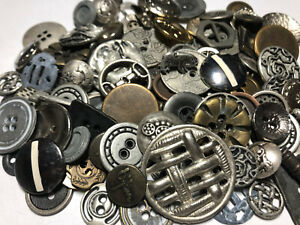 100 RARE MIXED LOT Of Metal Buttons OLD-VINTAGE & NEW