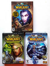 BIG BOX LOT World of Warcraft (PC) w/ Expansion SETS Burning Crusade, Lich King