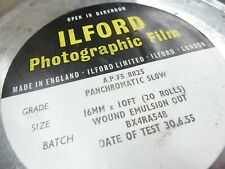 ILFORD 16mm FILM Panchromatic Slow 20 Rolls x 10 feet A.P.F5/8825  Tested 1955