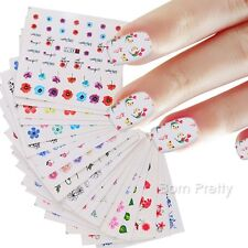 48 Sheets Water Decal Flower Butterfly Colorful Manicure Nail Transfer Stickers