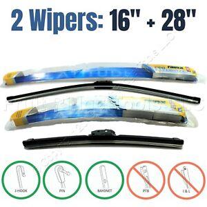 "PAIR Rain-X 16""+28"" Premium Latitude All-Weather Front Windshield Wiper Blades"