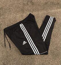 Adidas Tango Fútbol Chándal Pantalones Hombre Grande Negro Con Rayas Blancas Raras