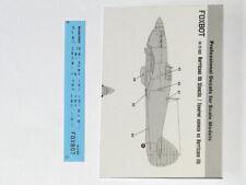 Foxbot Decals 1/72 Stencils for Hawker Hurricane Mk.IIB # FBOT72033