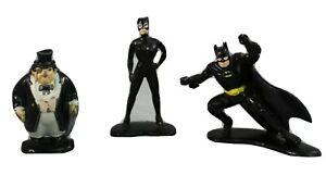 Ertl Batman Returns Batman Catwoman and Penguin Die Cast Metal Action Figures