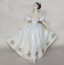 Vtg Royal Doulton KATE Lady in White Dress w Flowers Bone China Figurine HN2789
