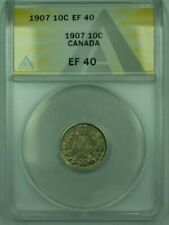 1907 Canda 10c 10 Cent Silver Coin ANACS EF-40 (XF)