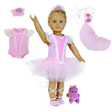 "MangoPeaches-18"" Doll Easter Ballerina Outfit- 5 Pc Set-Fits American Girl Dolls"
