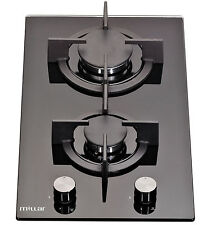 Millar Gh3020Pb 30cm Built-in 2 Burner Domino Gas on Glass Hob