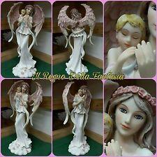 ANGELO ANGEL ENGEL FAIRY FEES ELFEN FATA CON BAMBINO IN BRACCIO NO LES ALPES